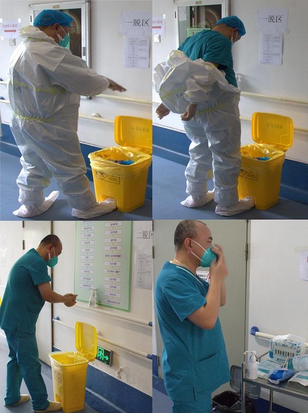 5.接诊后,急诊科医生按顺序进行脱套、清洁消毒、更换防护用品.jpg